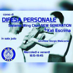 Corso di Wing Chun NEW GENERATION al CUS (centro universitario sportivo) di Pisa